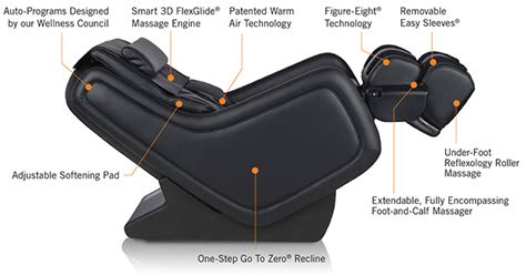 Recline Zero Gravity Chair With Technology by New Human Touch Zerog 5 0 Immersion Seating Chair