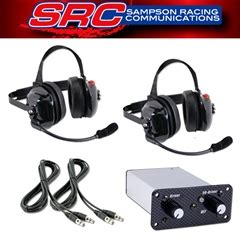 airboat intercom headsets two place off road intercom system w 2 behind the head