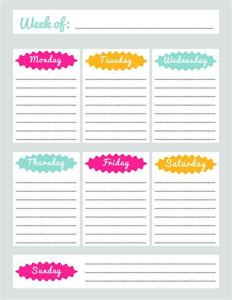 weekly calendar printable 2018 weekly planner template fillable printable pdf
