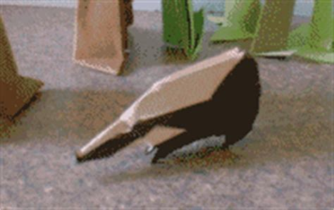 Origami Badger - origami badger 3d easy craft ideas