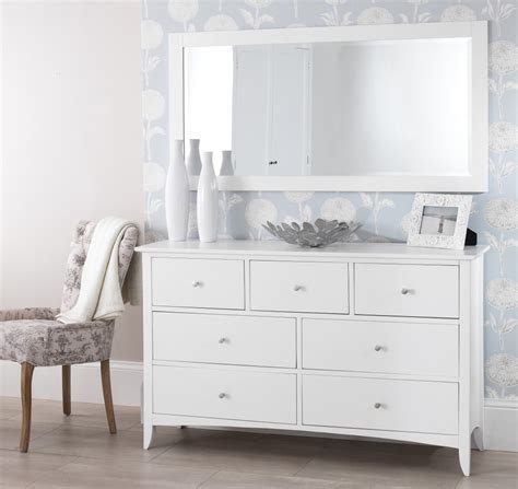 white bedroom chest edward hopper white 7 drawer chest bedroom furniture direct