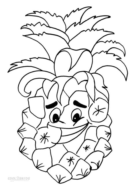 pineapple coloring pages printable pineapple coloring pages for kids cool2bkids