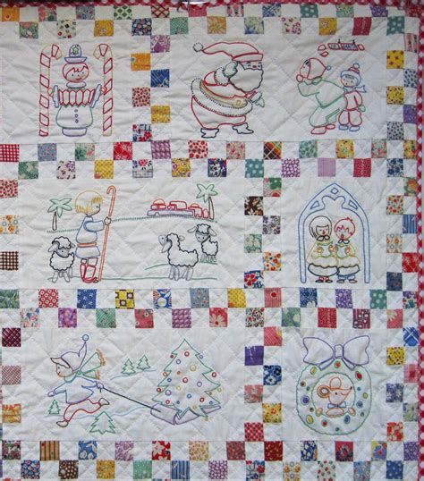 Embroidery Quilt by Santa S Follow The Colors Embroidered Quilt Finished Q