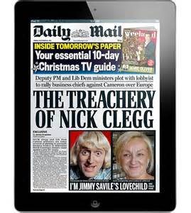 get the daily mail for kindle or the daily mail newspaper