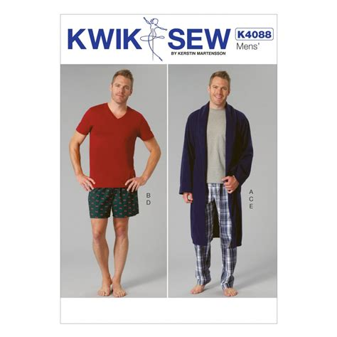 products archive make sewing patterns kwik sew mens easy sewing pattern 4088 dressing gown
