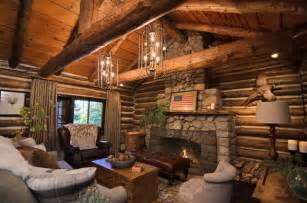 cabins american builders rustic living room