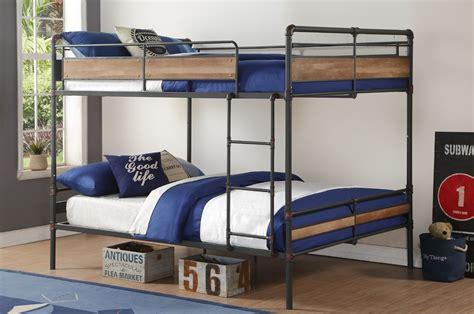 queen bunk bed brantley ii queen over queen bunk bed reviews birch lane