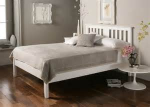 White Wooden Bed Frames Malmo White Wooden Bed Frame Painted Wood Wooden Beds