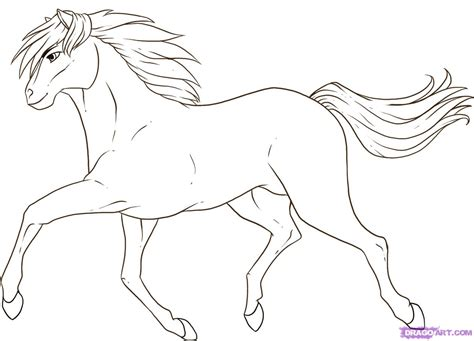 mustang horse drawing how to draw a running horse step by step farm animals