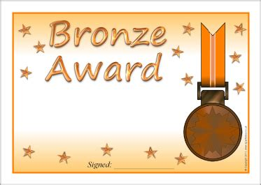 Bronze Certificate Template editable platinum gold silver and bronze award