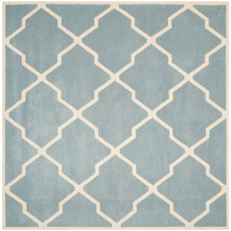 7 ft square area rugs safavieh chatham blue ivory 7 ft x 7 ft square area rug cht736b 7sq the home depot