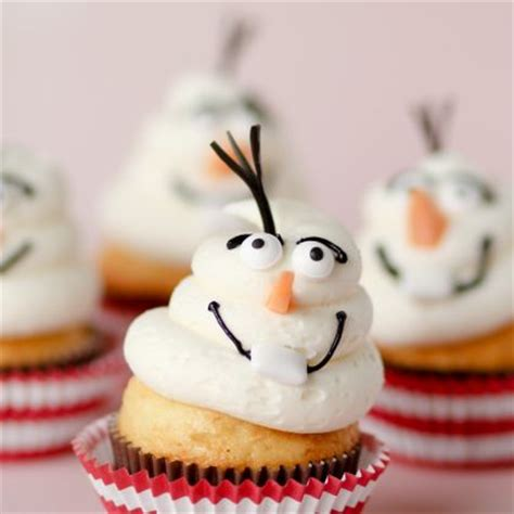 frozen inspired olaf cupcakes disney family