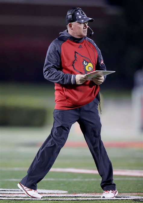 bobby petrino photos photos wake forest v louisville