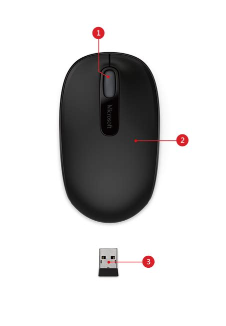Mouse Wireless Microsoft 1850 wireless mobile mouse 1850 microsoft accessories