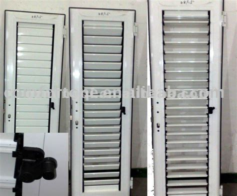 Aluminum Louver Door Swing Up And Down Buy Aluminum Louvered Glass Doors