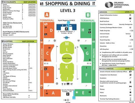orlando international airport terminal info