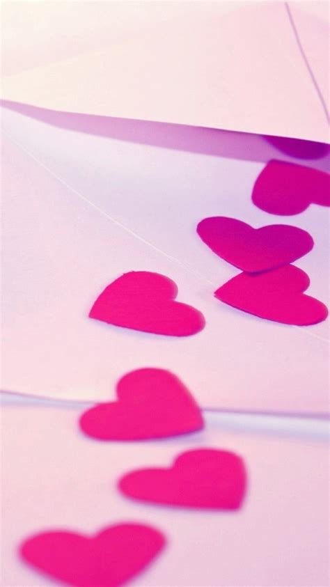 wallpaper pink iphone 4 wallpaper iphone 6 hearts pink paper 4 7 inches