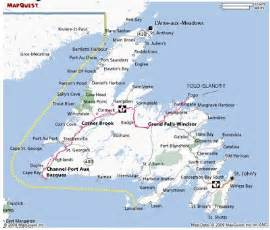 yahoo canada maps map of newfoundland towns yahoo canada image search