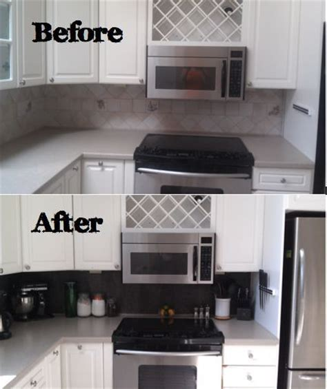 diy temporary backsplash house updated diy vinyl tiled backsplash pictures of the o jays and