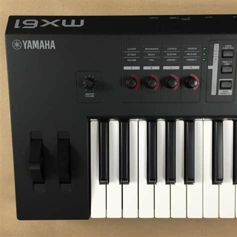 Keyboard Yamaha Usb yamaha mx61 synthesizer digital keyboard with motif sounds usb audio midi 61 black mint