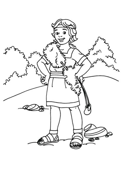 David And Goliath Coloring Pages Printables Sketch David And Goliath Coloring Page