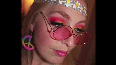 natural hippie makeup tutorial hippie flower girl makeup tutorial youtube
