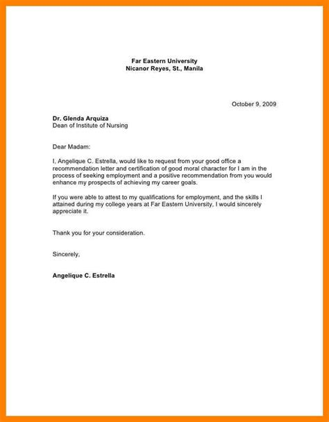 Sle Of Moral Character Letter For School 6 Moral Character Letter For Immigration Fancy Resume