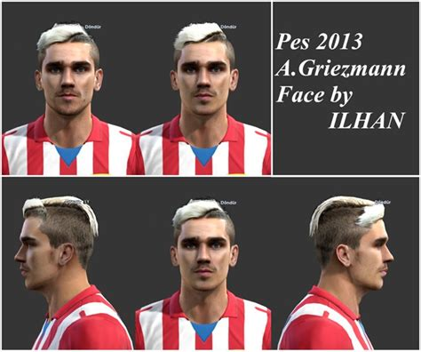Hair Make Pes 13 | pes 2013 griezmann face for pes 2013 by ilhan pes patch