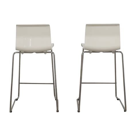 Ikea Glenn Bar Stool White by 86 Ikea Ikea Bernhard Orange Bar Stools Chairs
