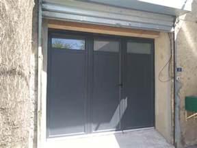 porte de garage aluminium 224 battant sur mesure tous ral