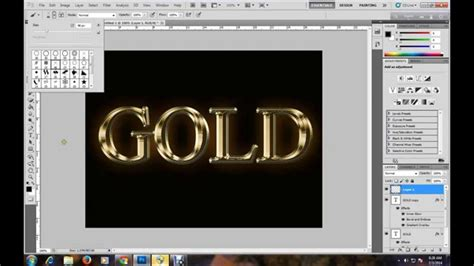 tutorial photoshop gold photoshop tutorial gold text effect