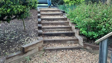By wooden ladder and created without railing to enhance small garden