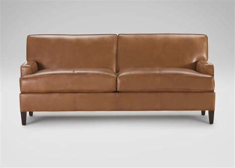 ethan allen leather sectional bryant leather sofa ethan allen