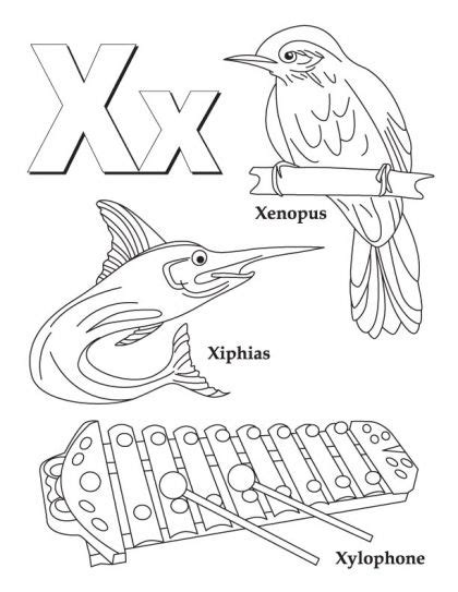 color that starts with x my a to z coloring book letter x coloring page crafts