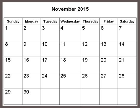 printable calendar november 2015 holidays image gallery november calendar 2015 uk