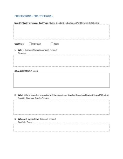 smart objectives template best goals and objectives template contemporary exle