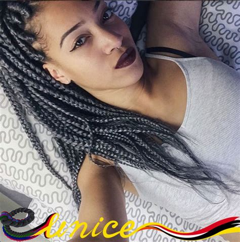 where to buy grey kinky twist hair aliexpress com buy 20roots piece 3x box braids synthetic