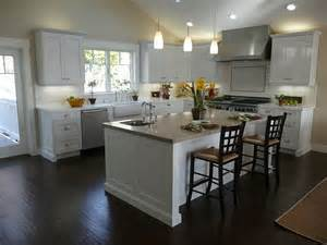 White Kitchen Island by Kitchen Black Wooden Floor Simple Chandelier White