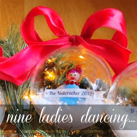 ninth day of christmas ideas clear ornament ideas uncommon designs