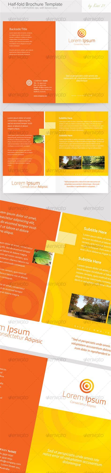Half Fold Brochure Template Graphicriver Half Fold Brochure Template