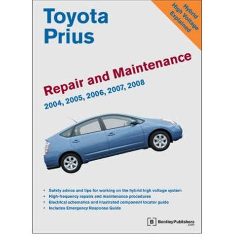 Toyota Prius Maintenance Toyota Prius Repair And Maintenance Manual Sagin