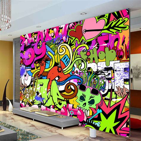 doodle dinding kamar graffiti boys photo wallpaper custom wall mural