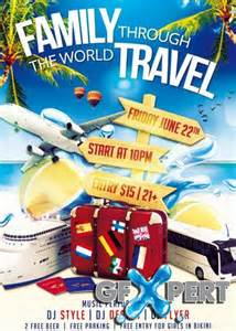 free travel flyer templates free family travel psd flyer template