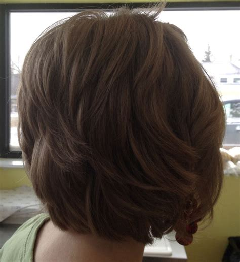 rear veiw of flicky hairsyles layered bob hairstyle rear view hair pinterest