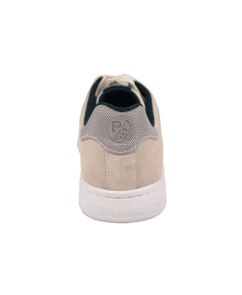 Paul Smith Serge Embossed Trainers white leather trainers
