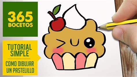 imagenes de lapiz kawaii como dibujar un cupcake kawaii paso a paso dibujos