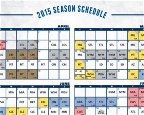 Cubs Giveaway Schedule - printable schedule chicago cubs