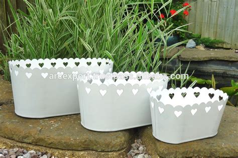 Silver Planters Outdoor by Silver Plated Garden Used Metalic Planters Buy Silver