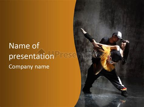 Hip Hop And Ballet Powerpoint Template Id 0000008692 Upresentation Com Hip Hop Powerpoint Template