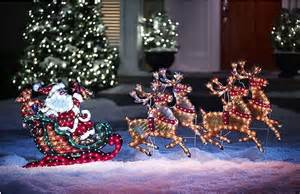 Outdoor christmas decorations santa and reindeer homealterdecor top